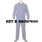 Костюм летний штабной с длинным рукавом Синий, ткань Рип-стоп