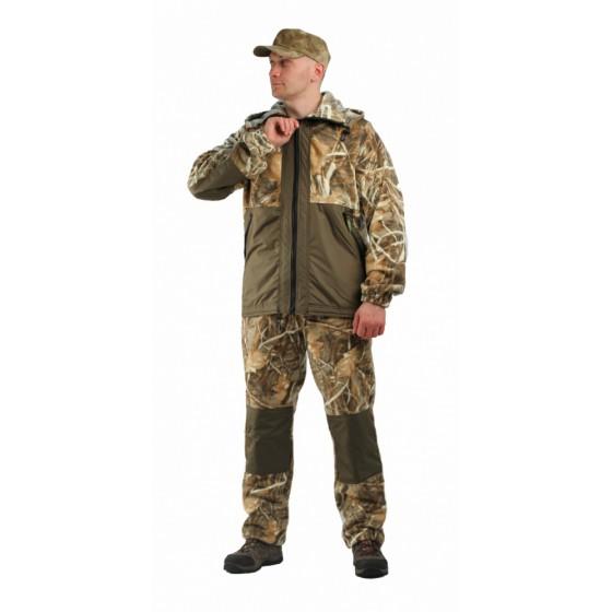 Флисовый костюм Панда, камуфляж Осока с накладками,350г/м2