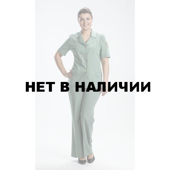 Костюм ФТС(Таможня) женский летний специальный фисташковый (жакет+двое брюк)