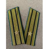 Погоны Береговая охрана ПС ФСБ вышитые Капитан 3 ранга парадные на китель люрекс