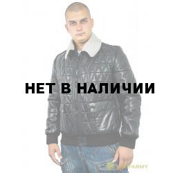 Куртка кожаная МК/17-5К Lagivert Vegital+Vitelino Black