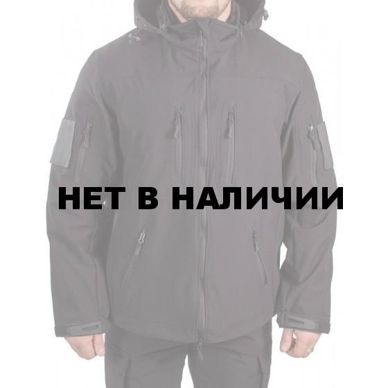 Куртка с капюшоном МПА-26-01 (ткань софтшелл) черная