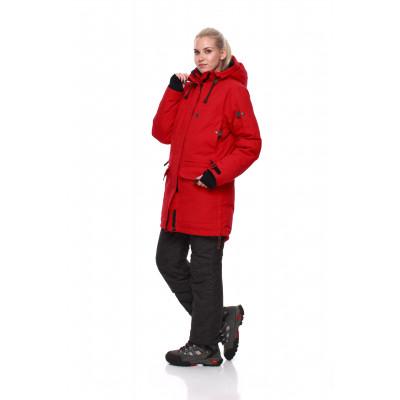 Женская пуховая куртка-парка Баск IREMEL красная