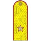 Погоны генерал-майор ФСИН с хлястиком парадные метанит