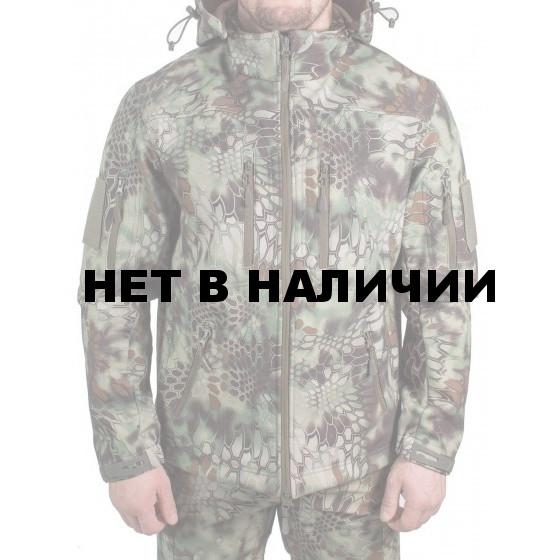 Куртка с капюшоном МПА-26-01 детская (ткань софтшелл), камуфляж питон лес