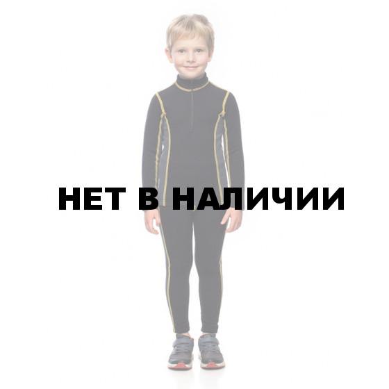 Комплект детского термобелья BASK kids T-SKIN SUIT черный/серый тмн