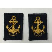 Эмблема петличная нового образца ВМФ офицерская (якорь)