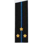 Погоны Авиация ВМФ вышитые Старший лейтенант повседневные со скосом на китель