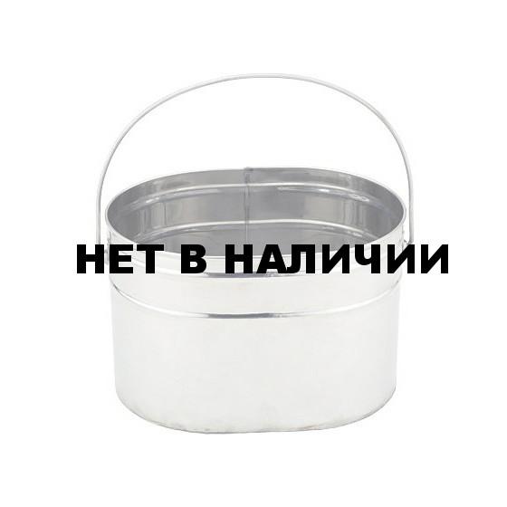 Кан нержавеющий 4 литра с крышкой