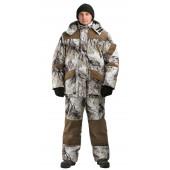 Костюм зимний ГОРКА-БУРАН куртка/полукомбинезон цвет:, камуфляж снежный лес/темно-коричневый, ткань Алова/Канада