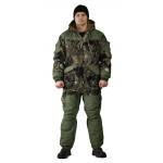 Костюм зимний ГЕРКОН куртка/брюки, цвет:, камуфляж серая глина/темный хаки, ткань : Алова/Финляндия