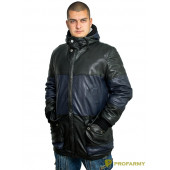 Куртка кожаная МК/17-8К Emora Lagivert+Emora Black