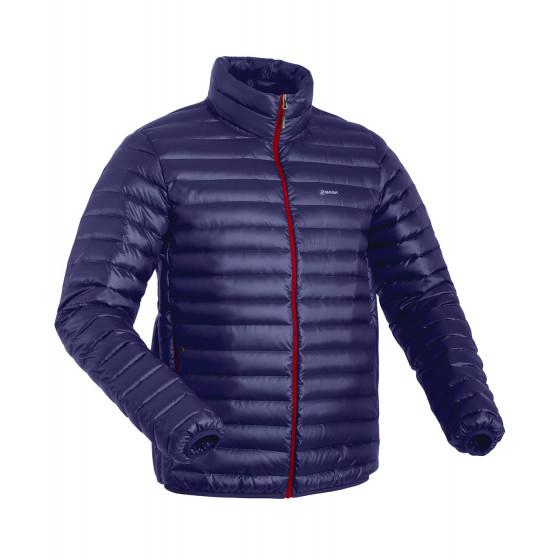 Куртка пуховая унисекс BASK CHAMONIX LIGHT UJ темно-синяя