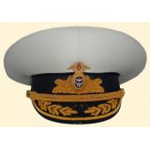 Фуражка ВМФ летняя адмиральская золото