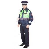 Куртка-ветровка ДПС сигнальная, ткань Оксфорд