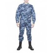 Костюм летний МПА-24 (Спецназ), камуфляж серо-голубая цифра, Мираж