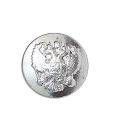 Пуговица диам. 22мм серебряная металл