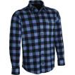 Рубашка флисовая клетчатая blue/black