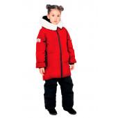 Куртка пуховая для девочки BASK kids TITANIA красная