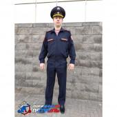 Костюм РОСГВАРДИЯ офисный, длинный рукав, синий габардин