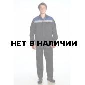 Костюм мужской Стандарт 1 летний, тёмно-синий с васильковым. СОП 50 мм.