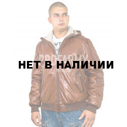 Куртка кожаная меховая 7165 Emora Red Brown