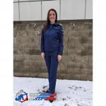 Костюм МО офисный женский НОВОГО ОБРАЗЦА, длинный рукав, синий рип-стоп 240\сетка