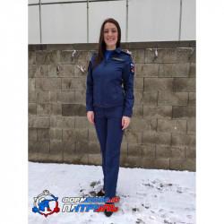 Костюм МО офисный женский НОВОГО ОБРАЗЦА длинный рукав(ткань рип-стоп 240, подкладка сетка ,цвет синий)