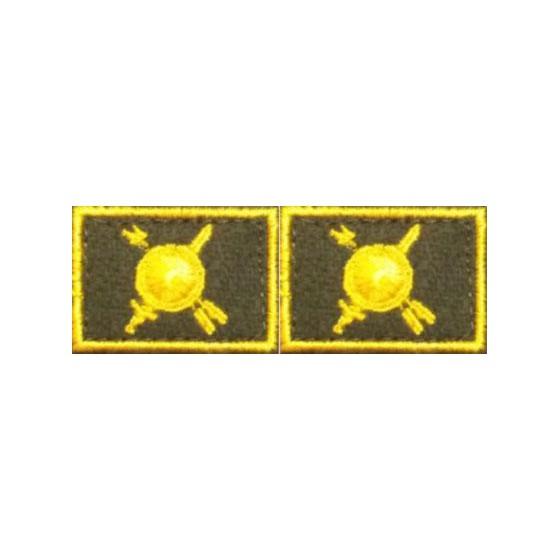 Эмблема петличная РВСН нового образца повседневная вышивка шёлк