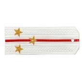 Погоны Береговые части ВМФ вышитые Старший лейтенант парадные на белую рубашку
