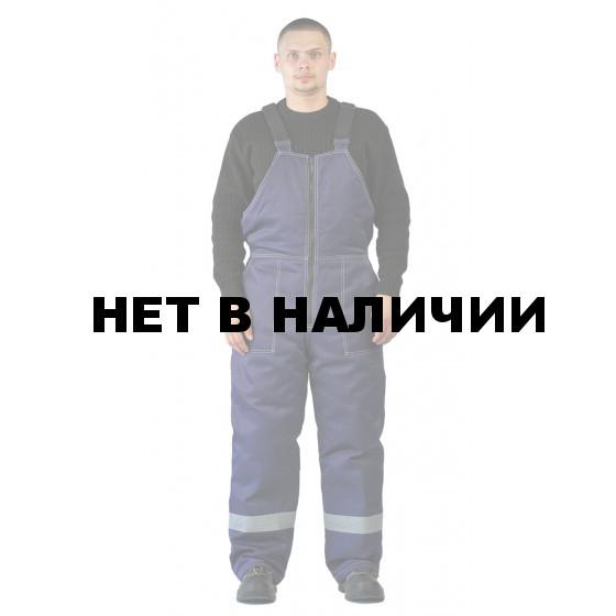 Полукомбинезон мужской УРАЛ зимний темно-синий с СОП