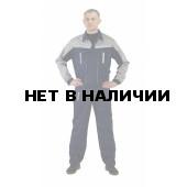 Костюм мужской Оптимальный летний с брюками темно-синий/серый