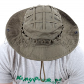 Панама KE рип-стоп на флисе олива