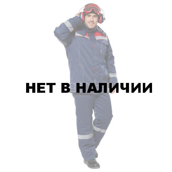 Костюм «Тимбер» утепленный (темно-cиний/красный) с полукомбинезоном