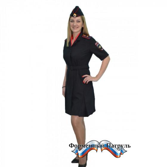 Платье Полиция МОДНИЦА клёш, короткий рукав, (неуставное, ткань габардин)