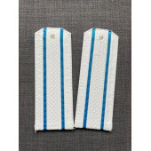 Погоны ВКС-ВВС-ВДВ Старшего офицерского состава на белую рубашку