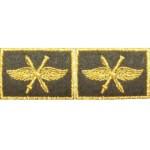 Эмблема петличная ВВС общая нового образца с пушкой повседневная вышивка шёлк