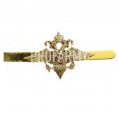 Зажим для галстука металлический МВД (латунь) ФМ-122