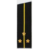 Погоны ВМФ вышитые Старший лейтенант повседневные на китель со скосом