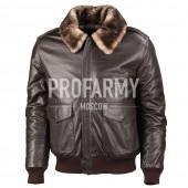 Куртка из натуральной кожи Madras Brown 7162 (коричневый)
