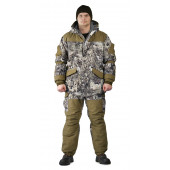 Костюм зимний ГРАСК куртка/полукомбинезон, камуфляж серые соты/темный хаки, ткань : Алова/Финляндия