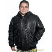 Куртка кожаная меховая 7166 Flonap Black