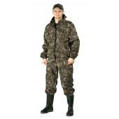 Костюм КАСКАД куртка/брюки, цвет:, камуфляж Тетрис хаки, ткань : Полофлис