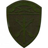 Нашивка на рукав с липучкой Росгвардия Северо-Западного округа в/ч Оперативного назначения полевая фон оливковый пластик