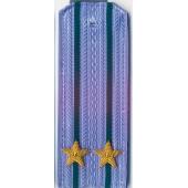 Погоны ПС ФСБ вышитые Подполковник повседневные на синюю рубашку
