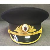 Фуражка Полиция нового образца офисная генеральская золото