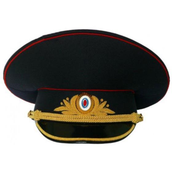Фуражка генеральская Полиция полушерсть повседневная модельная золото