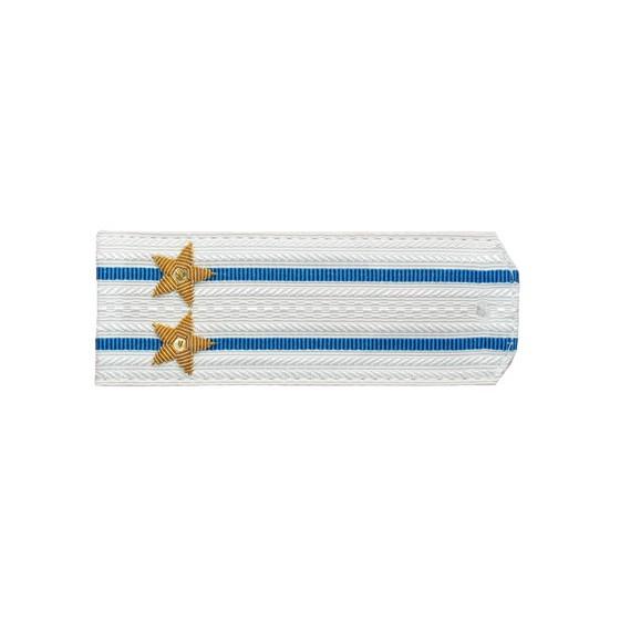 Погоны Авиация ВМФ вышитые Подполковник парадные на белую рубашку
