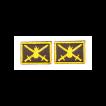 Эмблема петличная с липучкой Сухопутные войска нового образца вышивка шёлк
