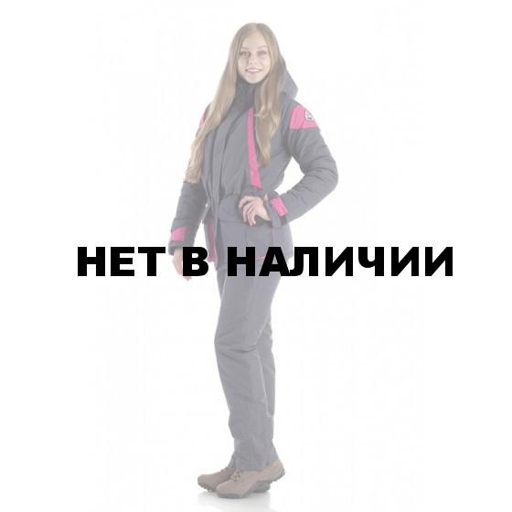 Костюм женский Касатка зимний., ткань мембрана (Добби), тефлоновое покрытие, цвет серый/малиновый